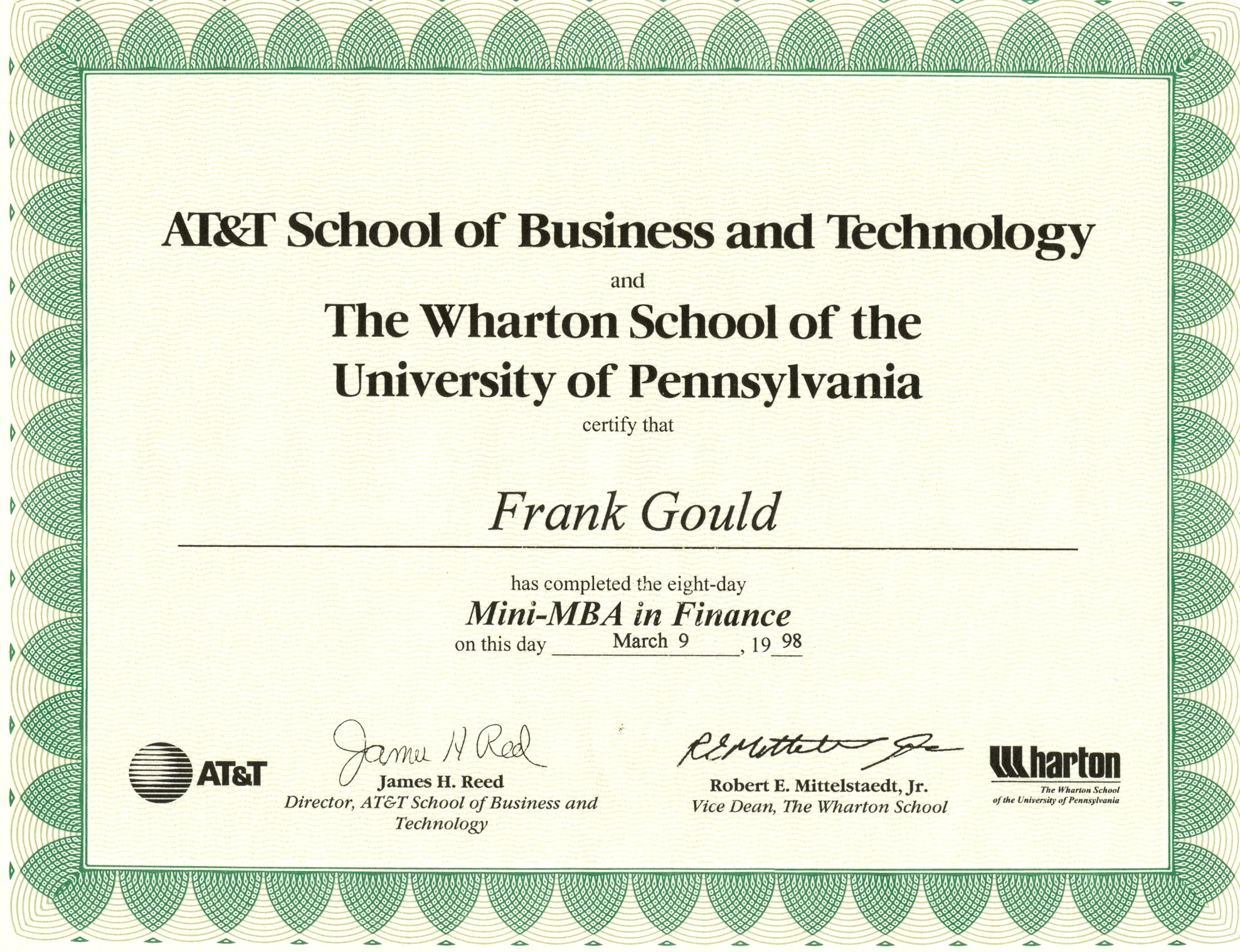 Mini Mba Finance Frank Gould Tech Writer Portfolio